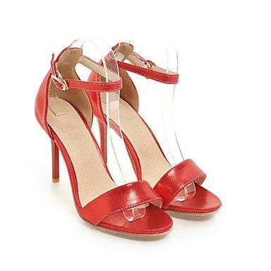 Club de Sandals Zapatos de charol de tafetán Oficina & Carrera parte & traje de noche Stiletto talón hebilla Ruby