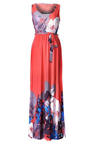 G2 Chic Women's Basic Casual Lounge Spring Summer Maxi Dress(DRS-MAX,ORNA2-M) (G2 Chic Maxi Dress)