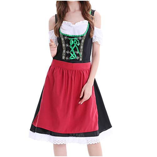 TLTL Women Beer Festival Cosplay Maidservant Dress Beer Festival Sexy Erotic Costumes(Medium,Red-D)]()