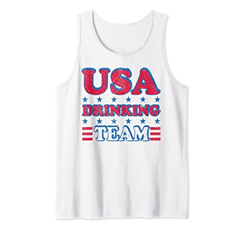 USA Drinking Team 4th of July Independence Day Drunk Funny Tank Top (Team Usa Shop Com)