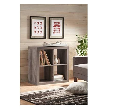 Better Homes and Gardens 4-Cube Organizer Storage Bookcase Bookshelf (4, White) (Rustic Gray, 4-Cube New) from .Better Homes & Gardens