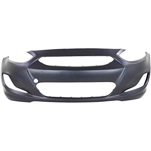 CAPA Certified Front BUMPER COVER Primed for 2014-2016 Hyundai Hyundai Accent ()