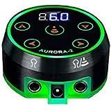 Tattoo Power Supply - Aurora II Power Supply 2nd Gen Colorful Voltage Fits All Tattoo Machine (Black)