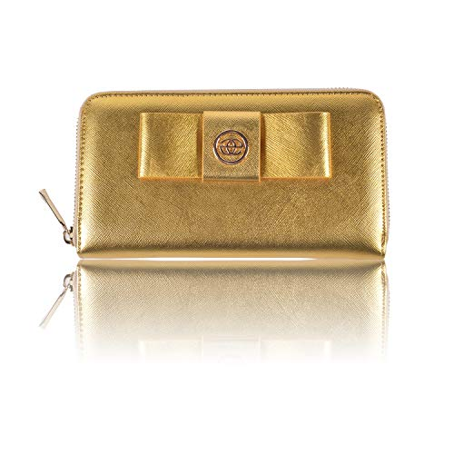 15ff6a411c15 「MALACOCO」蝶結び 長財布 大容量 レディース 財布 ロングウォレット 多機能財布 カード