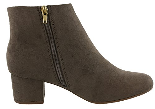 Heel Ankle Taupe Classified Round Low MayDay Bootie Toe Women's Smoke City 0qFawa