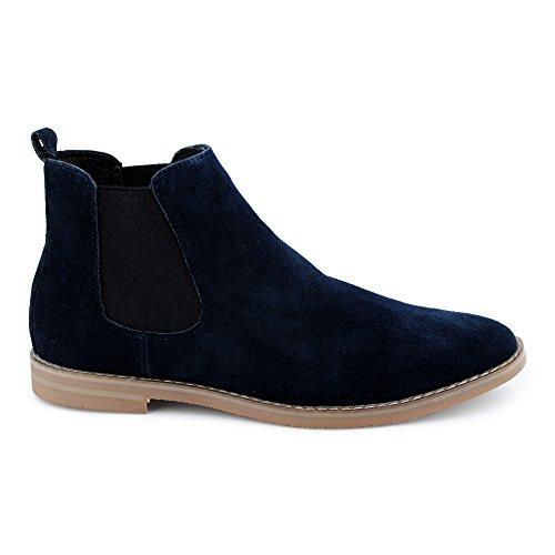 Stiefeletten Dunkelblau Chelseaboots Schuhe Schlupfstiefel Leder Herren Stiefel Casual FiveSix Velours Hochzeit Boots Businessschuhe Anzug RUTnXOqH