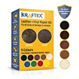 microfiber repair kit - LEATHER AND VINYL REPAIR KIT. REPAIRS AND TOUCH UPS [RESTORE SCRATCHES, STAINS AND CRACKS] TO ANY COLORED COUCHES, CAR SEATS, SHOES, HANDBAGS OR DASHBOARDS. EASILY MATCH COLORS WITH 5 REAL LEATHER SHA