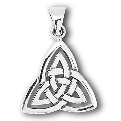 Triquetra Trinity Knot Pendant .925 Sterling Silver Symbol Endless Celtic Charm - Silver Jewelry Accessories Key Chain Bracelet Necklace Pendants (Dragonfly Dangling Bracelet)