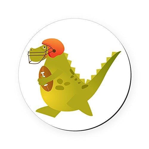 Round Coaster (Set of 4) Football Playing Dinosaur