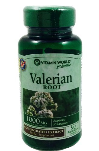 Vitamine mondiale racine de valériane, 1000 mg, 90 gélules