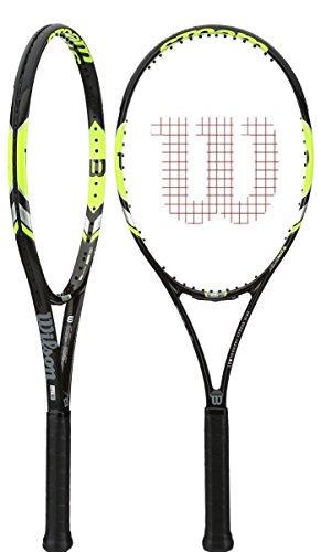 Wilson WRT73090U4 Steam 105S Tennis Racket, Black/Yellow, Grip Size: 4