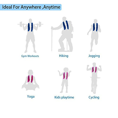 """Gym Towel Online India: [4 Pack] Cooling Towel (40""""x12""""), Ice Towel, Soft"""