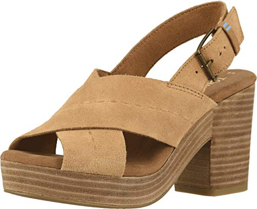 Dark Brown High Heel - TOMS Women's Ibiza Sandals, Size: 12 B(M) US, Color: Honey Suede