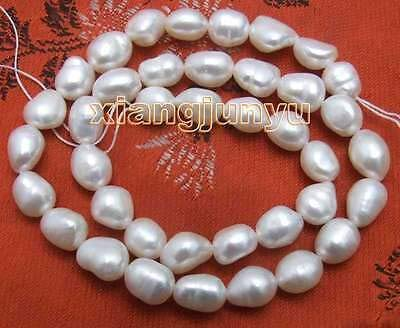"""SALE Big 7-9mm Natural Pink BAROQUE Freshwater Pearl Loose Beads strand 14/""""-l591"""