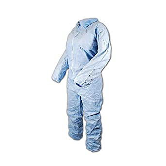 Magid Glove /& Safety CVC512-L Magid EconoWear Sontara FR Disposable Coverall Pack of 25 Blue Large X-Large