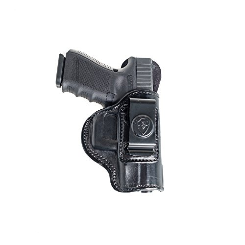 Inside The Waistband Leather Holster For Sig Sauer P229. IWB Holster with Clip Conceal Carry. Black Right Hand.