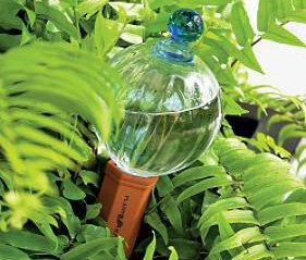 Finial Terra Cotta (12oz Glass Watering Globe with Decorative Blue Finial & Terracotta Plant Nanny Watering System)