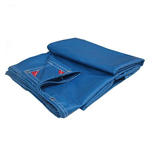 アサーかんたん煙QIANGDA トラックシート荷台カバー防水シート高耐久性ポリ塩化ビニール日除けスーパー防水性屋根シェルター簡単折り畳み-600g/m²、厚さ0.6mm、マルチサイズオプション (色 : Azure, サイズ さいず : 3.85 x 5.7m)
