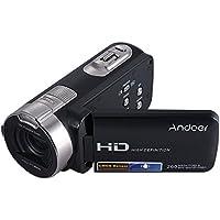 Andoer HDV-312P 1080P Full HD 2.7 Inch Rotating LCD Screen Digital Video Camera Max. 20 Mega Pixels 16× Digital Zoom Portable DV Camcorders - Black Color