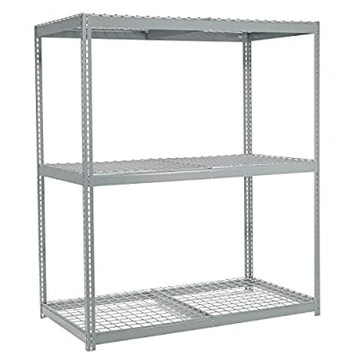 """Wide Span Rack With 3 Shelves Wire Deck, 1200 Lb Capacity Per Level, 48""""W x 36""""D x 84""""H"""