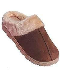Shoes 18 Womens Indoor/Outdoor Faux Shearling Slippers