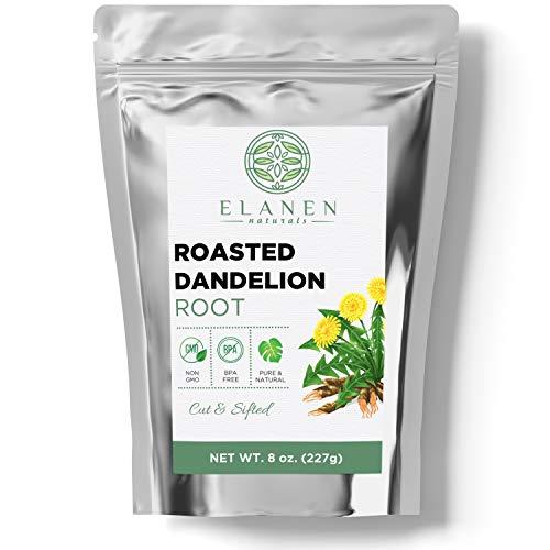 Roasted Dandelion Root Tea 8 oz. (227g), Contains ORGANIC Non-GMO Roasted Dandelion Root in Non-BPA Packaging, Dandelion…