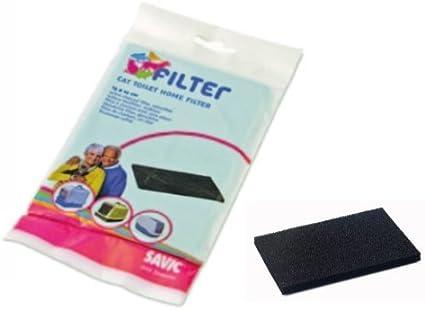 Carbón filtrante Nestor/Sphinx – Filtro de repuesto Carbón Activo Para Arenero, apto a todos los modelos de Toilette Savic: Amazon.es: Deportes y aire libre