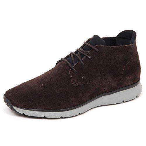 Hogan E5014 Sneaker Uomo Brown T20.15 New Urban Style Scarpe Suede Shoe Man Marrone scuro