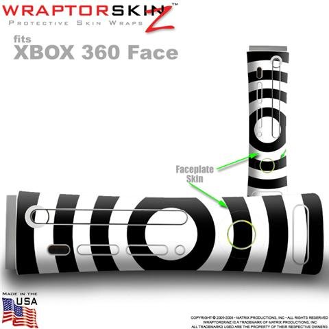 Bullseye Black and White Skin by WraptorSkinz TM fits Original XBOX 360 Factory Faceplates