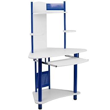 Blue Corner escritorio de la computadora con Hutch