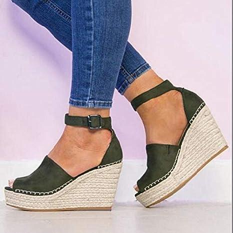 37a800ea7f182 Amazon.com: Shoes Sandals Women Fashion Dull Polish Sewing Peep Toe ...