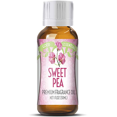 Sweet Pea Scented Oil by Good Essential (Huge 1oz Bottle - Premium Grade Fragrance Oil) - Perfect for Aromatherapy, Soaps, Candles, Slime, Lotions, and More!
