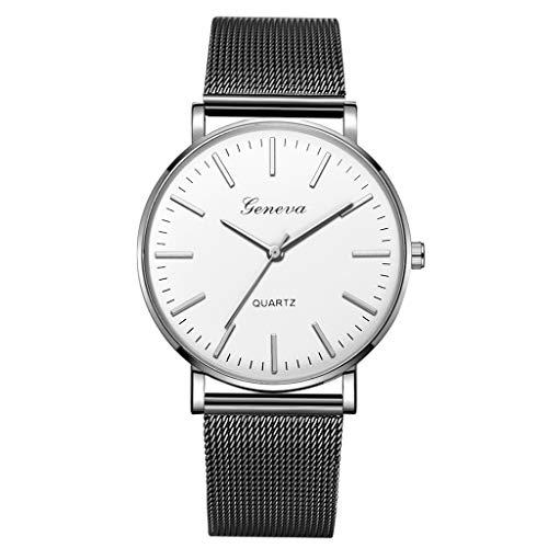 (LUCAMORE Mens Quartz Watch,Luxury Temperament Minimalist Business Analog Wrist Watches Mesh Stainless Steel Strap)