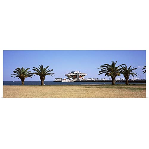 GREATBIGCANVAS Poster Print Entitled Trees on The Beach The Pier St. Petersburg Florida by 36