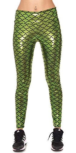In Hx Unita Da Tinta Lucentezza Di Fashion 1 Chic Jogging Morbida A Forma Donna Sciancratura Elasticizzata Pesce Grün Ragazza Pantalone vvRpwaqF
