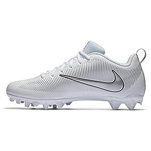 Nike Boys Vapor Strike 5 TD Football Cleat (2 Little Kid M, White/ Metallic Silver-Black)