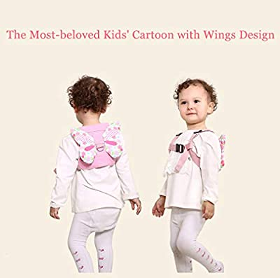 Baby Walking Safety Harness with Leash Toddler Child Kid Assistant Strap Anti-Lost Belt Child Harness and Leash Butterfly Wings Pink