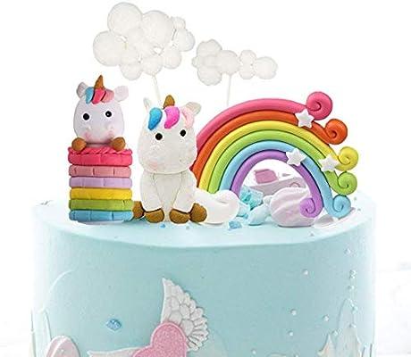 Unicorn Cake Topper Cloud Rainbow Cupcake Topper Decoración ...