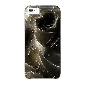 [oAzvYnw2499pBUdU] - New Black Rose Protective Iphone 5c Classic Hardshell Case