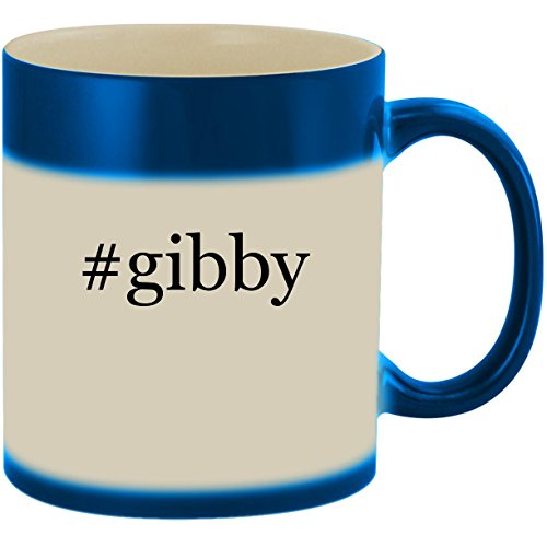 #gibby - 11oz Ceramic Color Changing Heat Sensitive Coffee Mug Cup, Blue