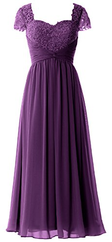 Of Eggplant Bride Maxi Formal Dress Mother Sleeves Evening Cap Women Macloth Lace Gown z0vwW17q