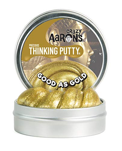 - Crazy Aaron's Thinking Putty, 1.6 Ounce, Precious Metals Good As Gold
