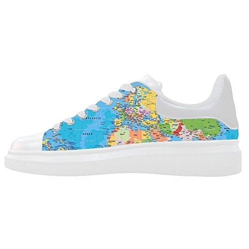 100% Original En Línea Custom Mappa del mondo Womens Canvas shoes Le scarpe le scarpe le scarpe. Espacio Libre En Línea Barata De Bienes El Envío Libre En Línea BxyK9fl