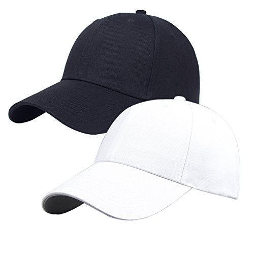 pack-of-2-plain-baseball-cap-blank-hat-black-white