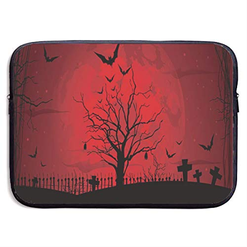 Gothic Scary Halloween Dark Red Night Laptop Sleeve Case Bag Cover for 13 Inch Computer
