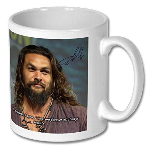 Star Prints UK Jason Momoa - Game of Thrones - Aquaman 2 Personalised Gift Mug Coffee Tea Drink Cup Autograph Print (with Personalised Message)