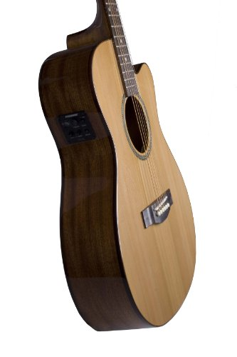 (Teton Acoustic Electric Cutaway Grand Concert Solid Cedar Top Mahogany Back and Sides STG105CENT)