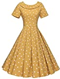 Search : GownTown Women's 1950s Polka Dot Vintage Dresses Audrey Hepburn Style Party Dresses