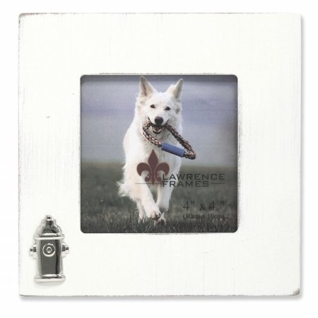 Lawrence Frames Wash Dog Frame with Fire Hydrant Ornament, 4