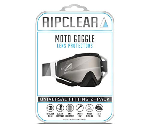 - Ripclear Lens Protectors for Fox Goggle (Tearoff Alternative) - Crystal Clear Military Grade Lens Protectors- Scratch Protection for Fox Racing Main Dirt Bike Goggles (FITS ALL GOGGLES) 2-Pack